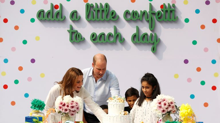 Duke and Duchess of Cambridge visit SOS Children's village in Lahore