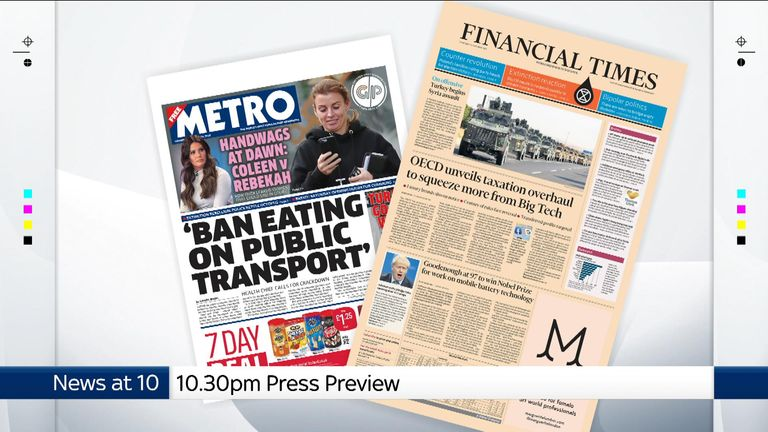 Thursday's national newspapers