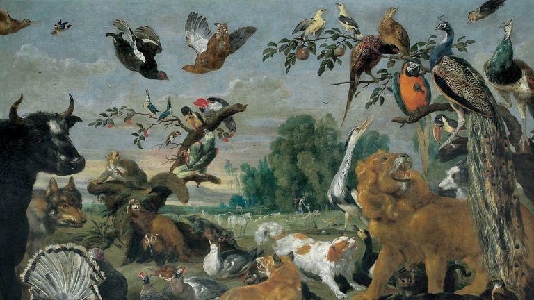 The paradise. By Paul de Vos (1591 - 1678). Oil on canvas