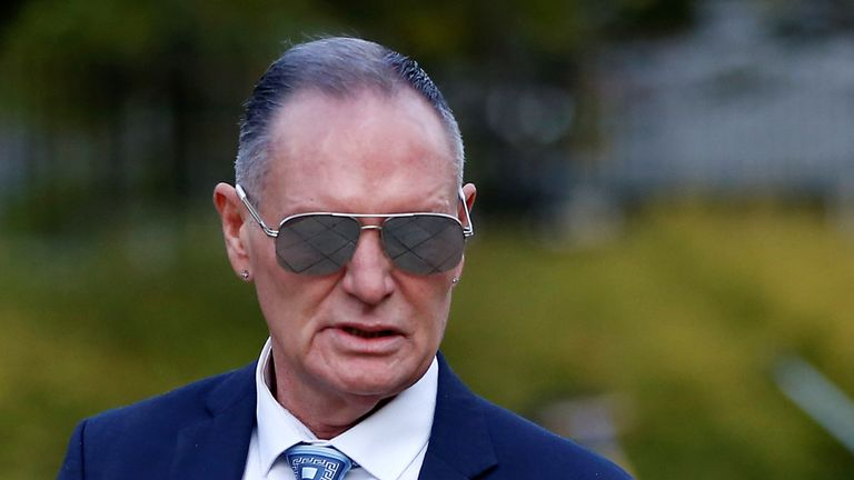 Former England footballer Paul Gascoigne arrives at Teesside Crown Court in Middlesbrough