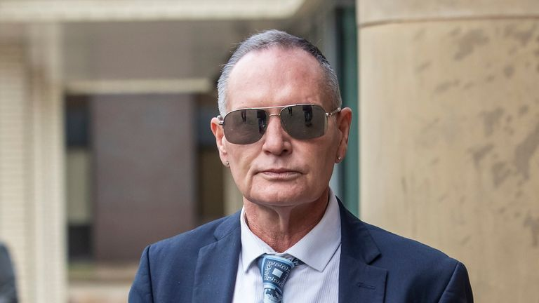 Paul Gascoigne arrives at Teesside Crown Court in Middlesbrough