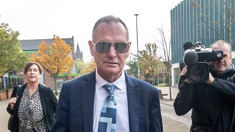 Paul Gascoigne has pleaded not guilty to sexual assault