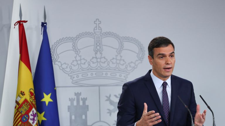 Spain's acting prime minister Pedro Sanchez said the sentences must be carried out