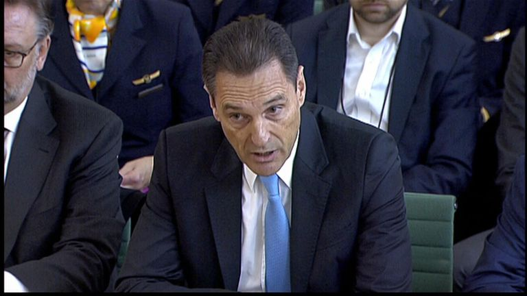 Peter Fankhauser was appearing before the Commons select committee