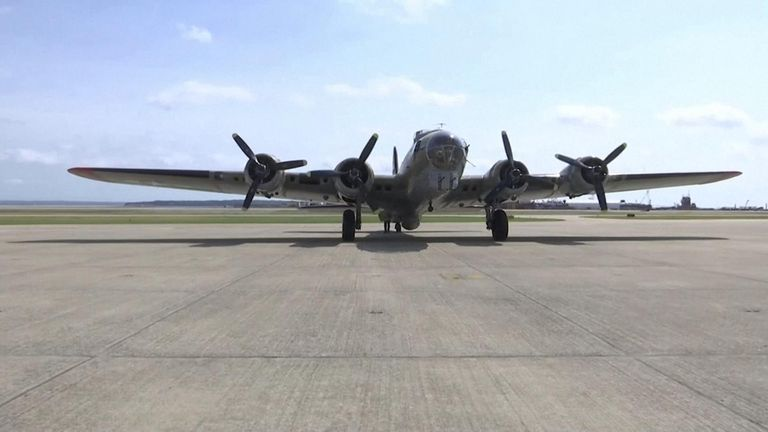 The Boeing B-17 Flying Fortress was not flown by the military