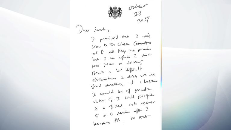 Boris Johnson's letter to liaison committee
