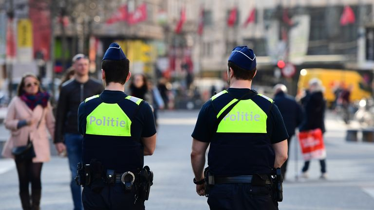 Police in Antwerp, Belgium
