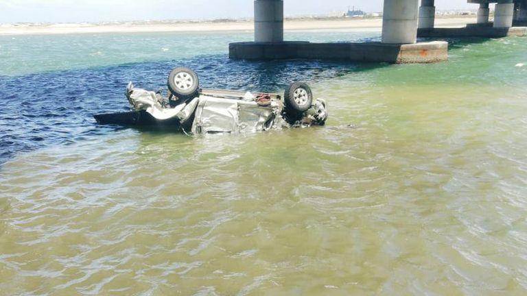 The scene of the accident. Pic: Port Elizabeth Traffic Updates