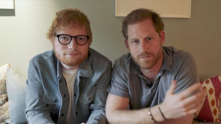 Prince Harry and Ed Sheeran team up for World Mental Health Day