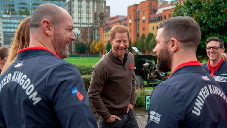 Prince Harry attends the launch of Team UK, selected for the Invictus Games The Hague 2020