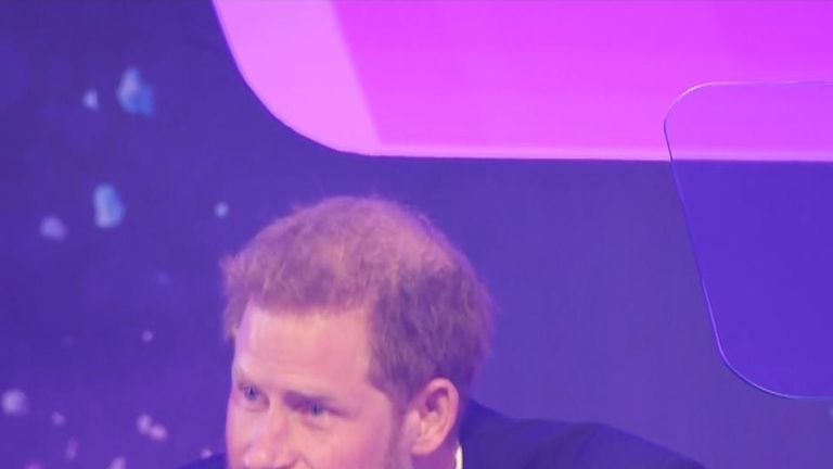 Prince Harry stops mid-speech as he is overcome by emotion at award ceremony