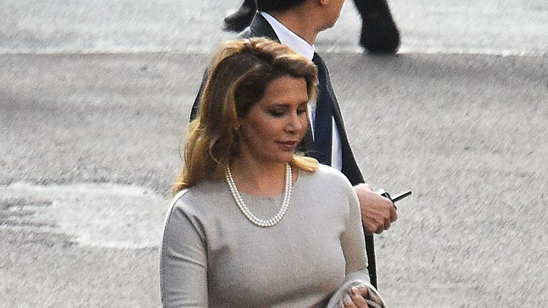 Princess Haya attended the court hearing today