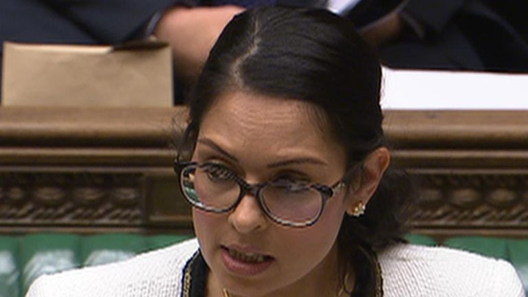 Priti Patel delivers statement to the House of Commons on the discovery of 39 dead people in a lorry in Essex