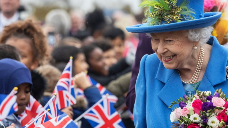 Queen Elizabeth II visits Haig Housing Trust, Morden, south London, to officially open their new housing development for armed forces veterans and the ex-service community