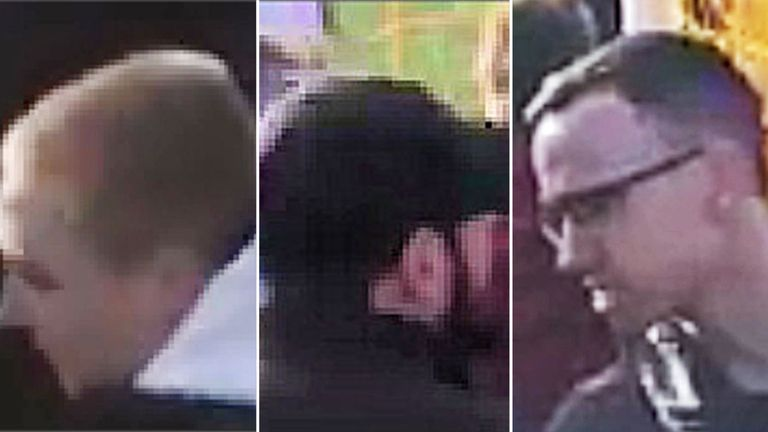 The three men are wanted by police. Pic: Metropolitan Police