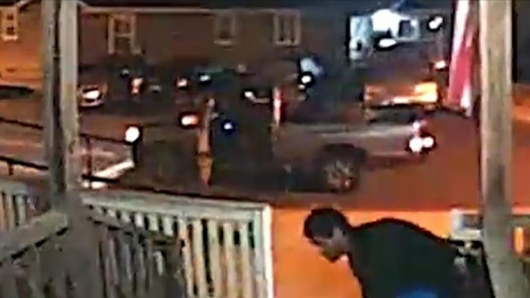 Man caught on CCTV stealing a wheelchair ramp