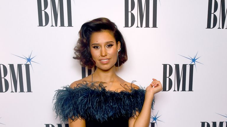 Raye at the BMI Awards