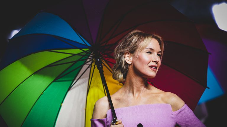 Renee Zellweger attends the Judy European Premiere at The Curzon Mayfair on September 30, 2019 in London, England