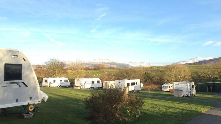 The Rhyd y Galen campsite near Bethel in Caernarfon. Pic: Rhyd y Galen