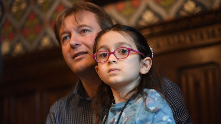 Richard Ratcliffe, with his five-year-old daughter Gabriella Zaghari-Ratcliffe