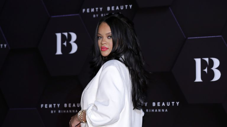Rihanna attends an event for 'FENTY BEAUTY' artistry beauty talk with Rihanna at Lotte World Tower on September 17, 2019 in Seoul, South Korea