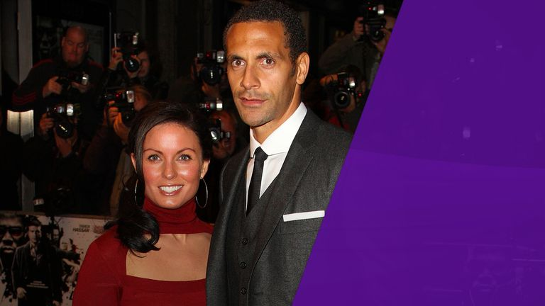 Rio Ferdinand and ***LATE*** wife REBECCA ELLISON