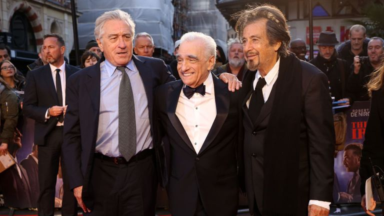 The three titans of film - De Niro, Martin Scorsese and Al Pacino
