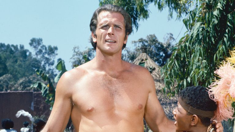 American actor Ron Ely plays Tarzan in the 1967 TV series