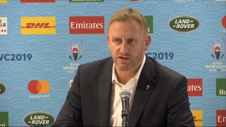 Rugby World Cup press conference