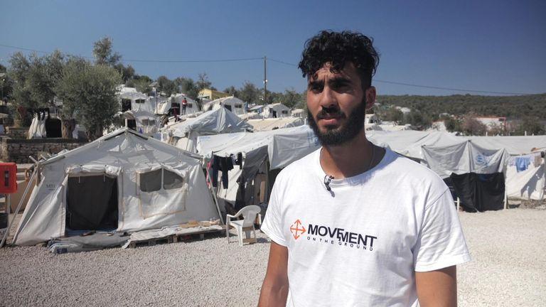 Michelle Clifford Lesbos migrants package - Salam Aldeen