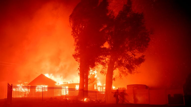 Multiple homes have been on fire in San Bernardino