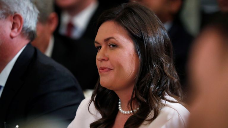 Former press secretary Sarah Sanders was reported to have been at the event