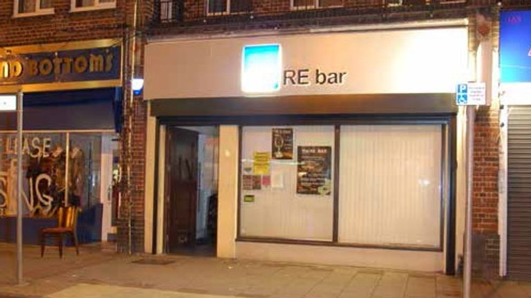 The attack happened at RE Bar in Eastcote