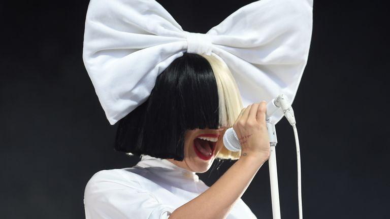 Sia performing at V Festival