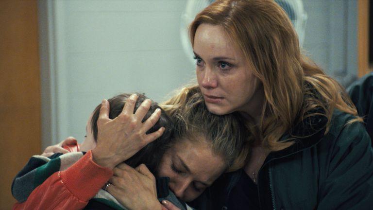 Christina Hendricks stars as Miller's older sister in the film