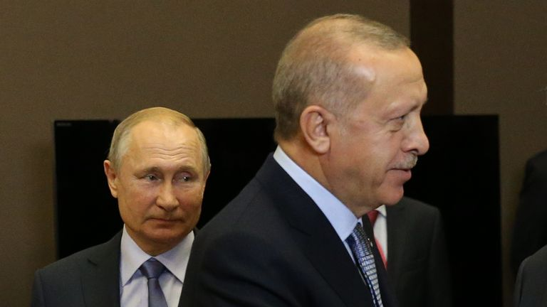Vladimir Putin and Recep Tayyip Erdogan met in Sochi on Tuesday