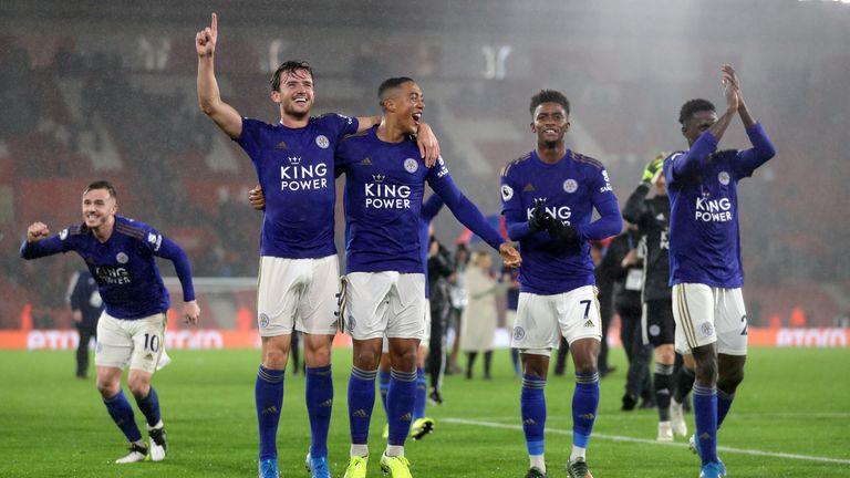 Leicester celebrated an historic 9-0 win over Southampton