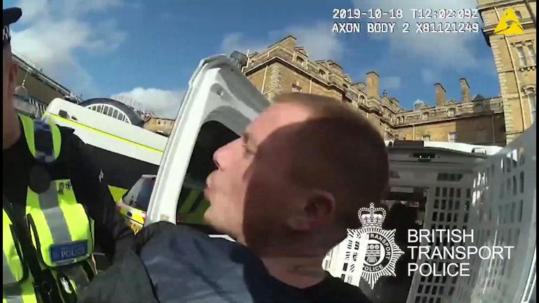 A man found guilty of spitting in the face of an officer in York is today wanted for not appearing in court for sentencing.