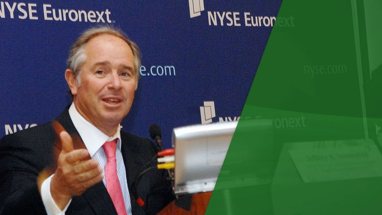 Stephen Schwarzman, co-founder, chairman and chief executive of Blackstone