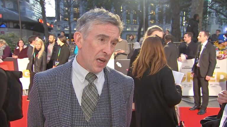 Steve Coogan gave his thoughts on Prince Harry suing two newspaper owners at the premiere of the film Greed.