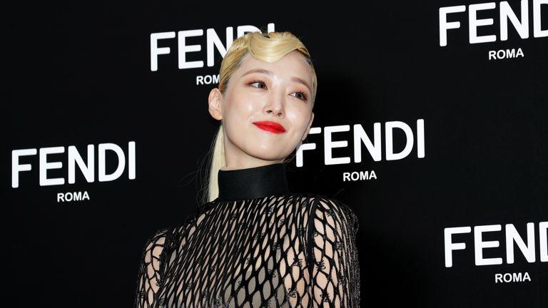 Former member of South Korean girl group f(x) Sulli, attends the photocall for FENDI on September 03, 2019 in Seoul, South Korea