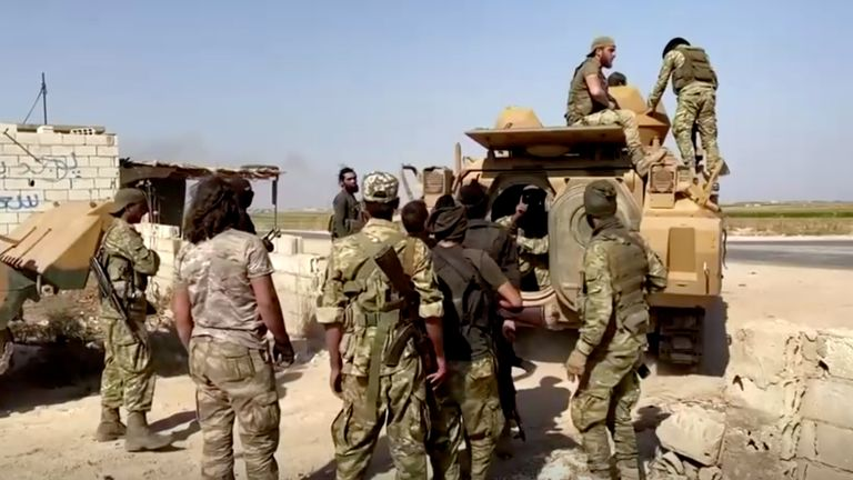 Syrian rebels leave