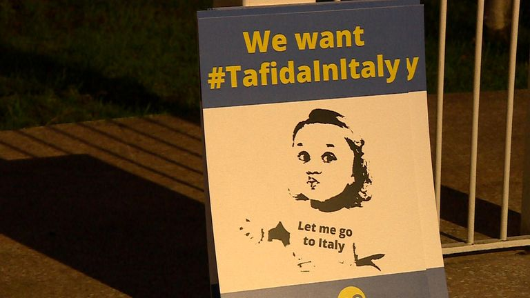 Tafida's family says she should be allowed to go to Italy