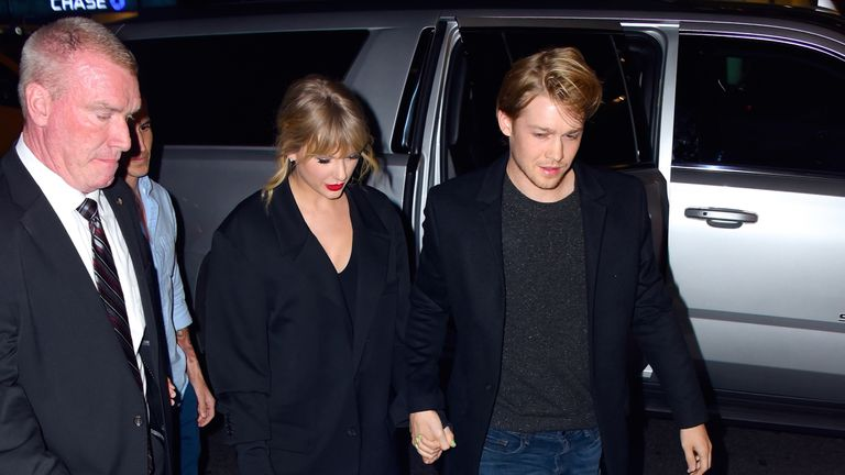 Taylor Swift and boyfriend Joe Alwyn in New York on Saturday