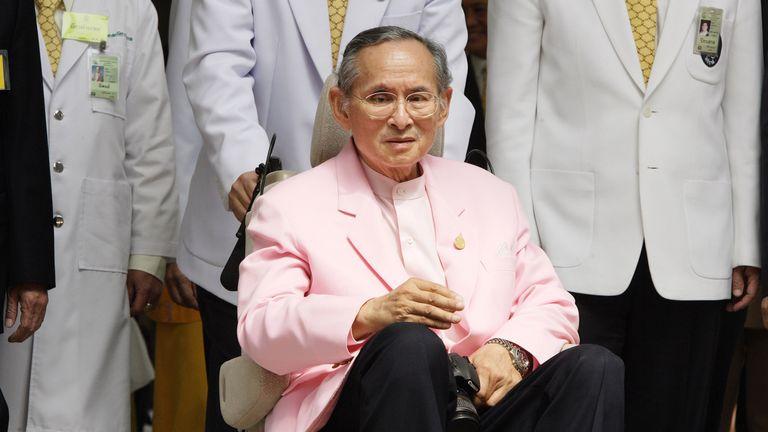 The late Thai king Bhumibol Adulyadej