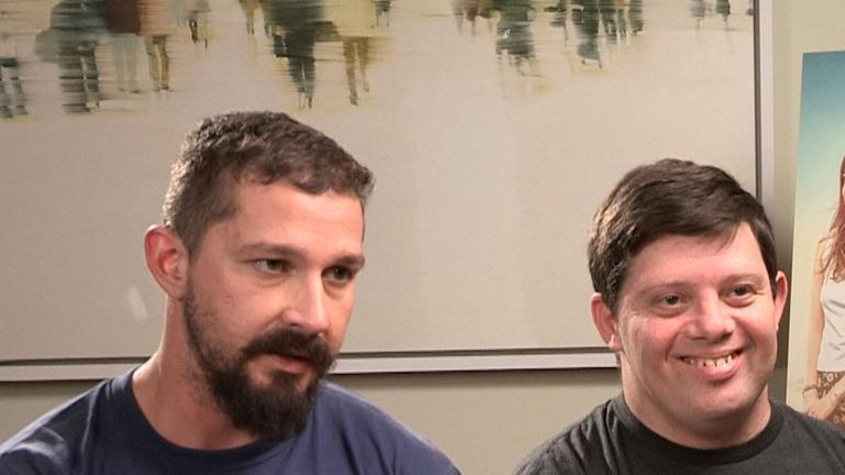 Shia LaBeouf and Zack Gottsagen star in The Peanut Butter Falcon