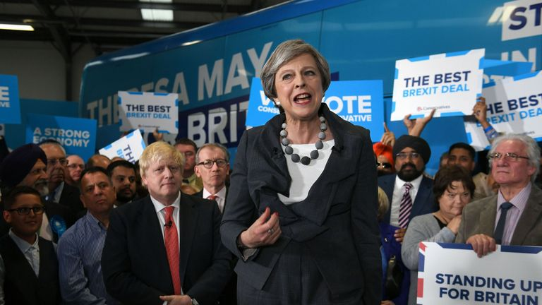 Theresa May during the 207 general election campaign