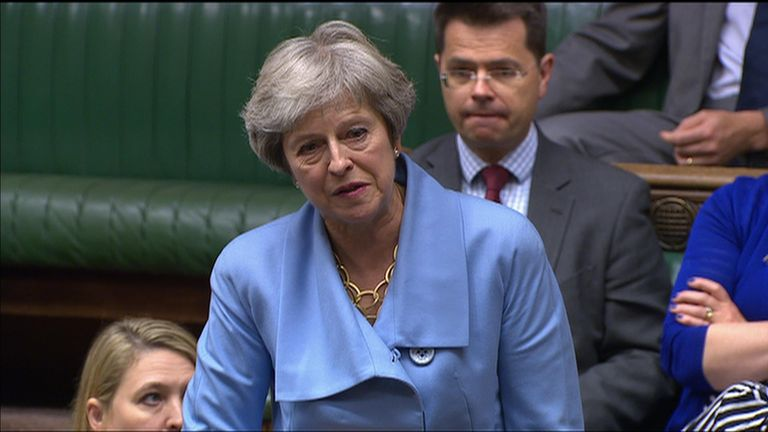 Theresa May spoke in the Commons for the first time since returning to the backbenches