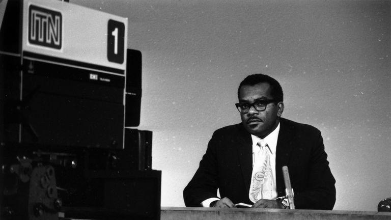Trevor McDonald, aged 33, presenting in 1973