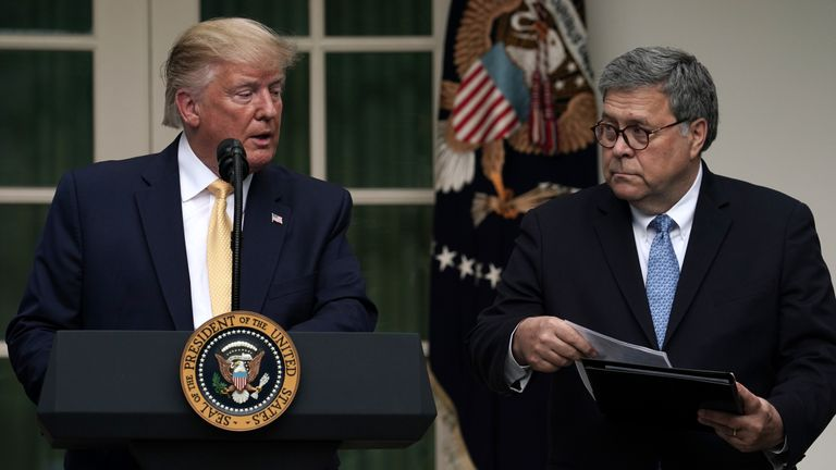 President Trump with Attorney General William Barr